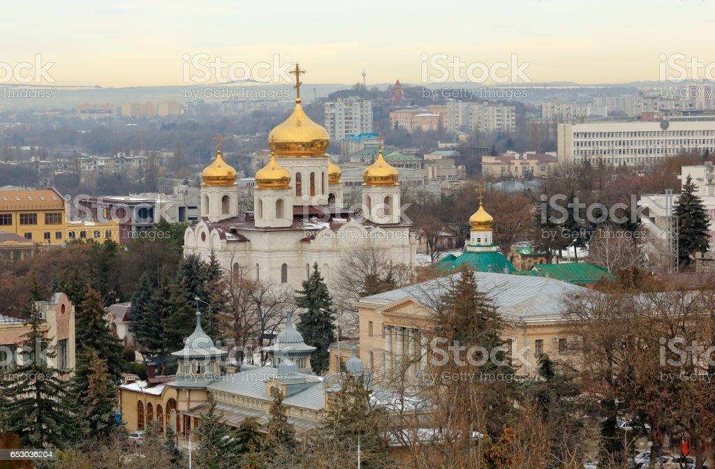 Saviour Cathedral in the city of Pyatigorsk, Stavropol Krai, Russia. stock photo