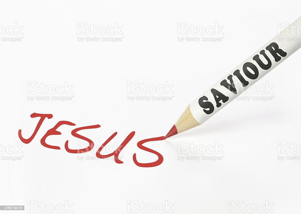 Saviour is Jesus royalty-free stock photo