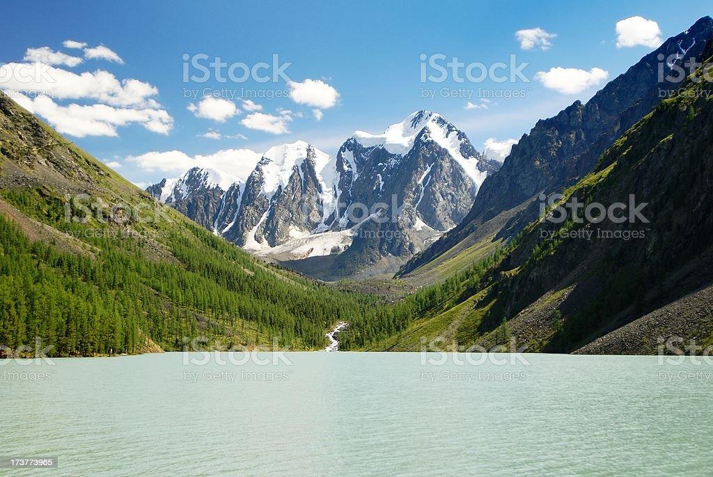 savlo or szavlo valley in altai range - mountains russia stock photo