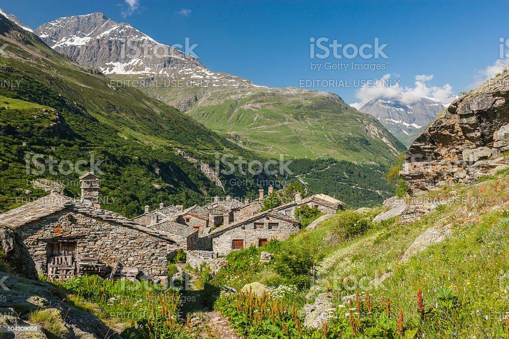 Savoia (Francia). Nel villaggio di L'Ecot - foto stock