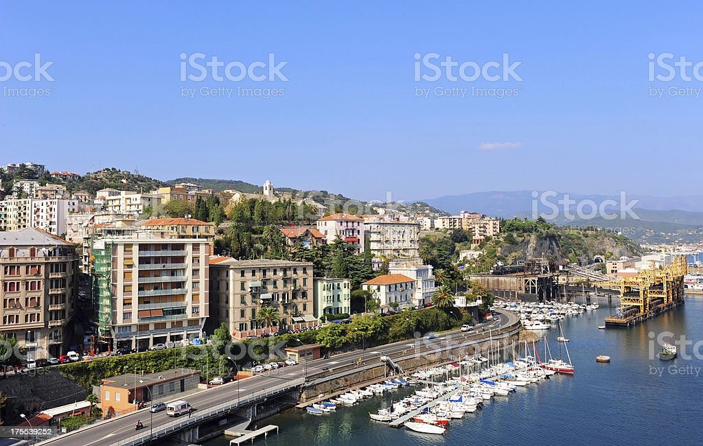 Savona cityscape stock photo