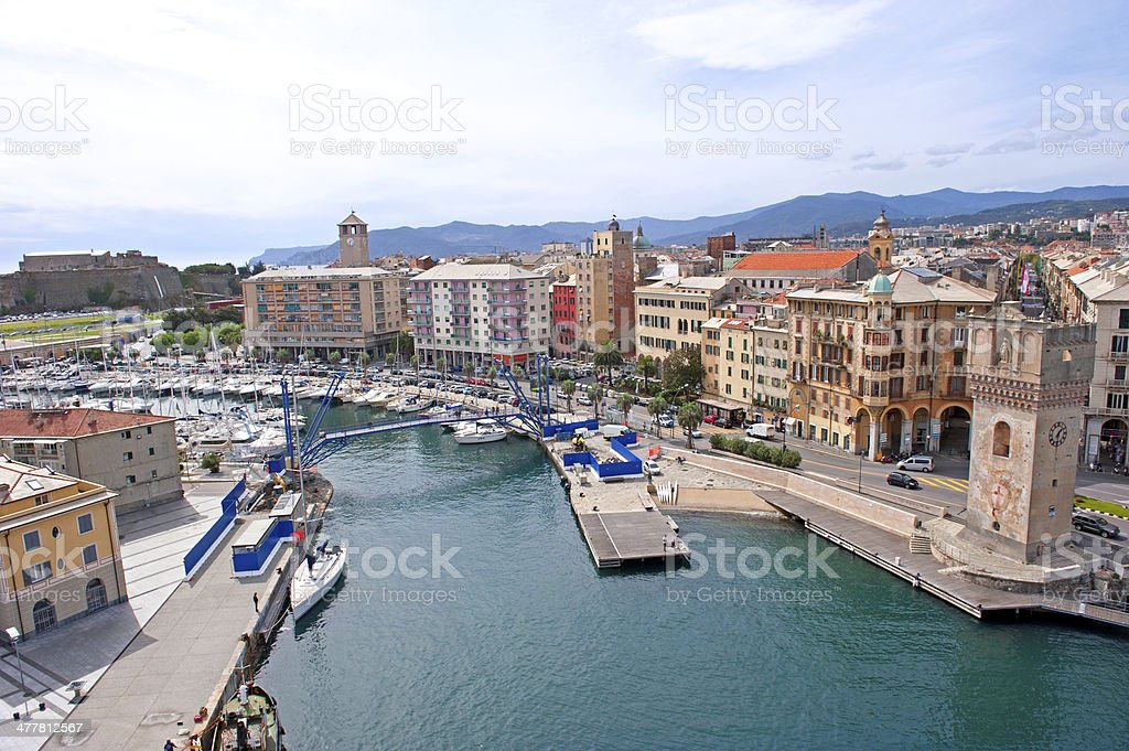 Savona skyline stock photo