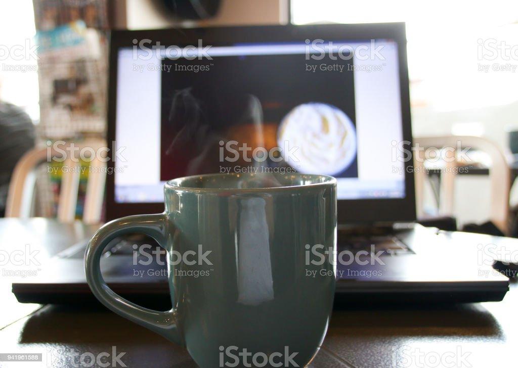 Savoring my Morning Coffee stock photo