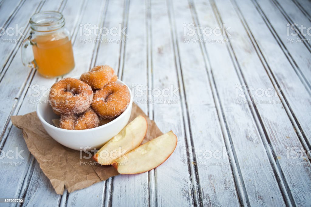 Savory Apple Cider Donuts stock photo