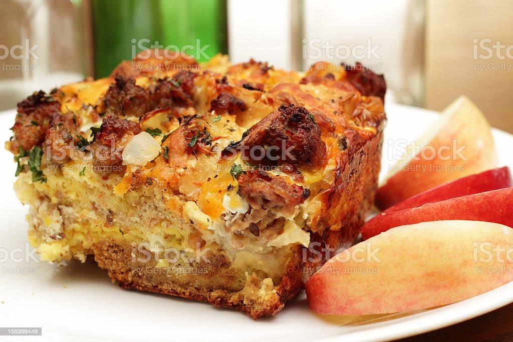 Savory Breakfast casserole stock photo