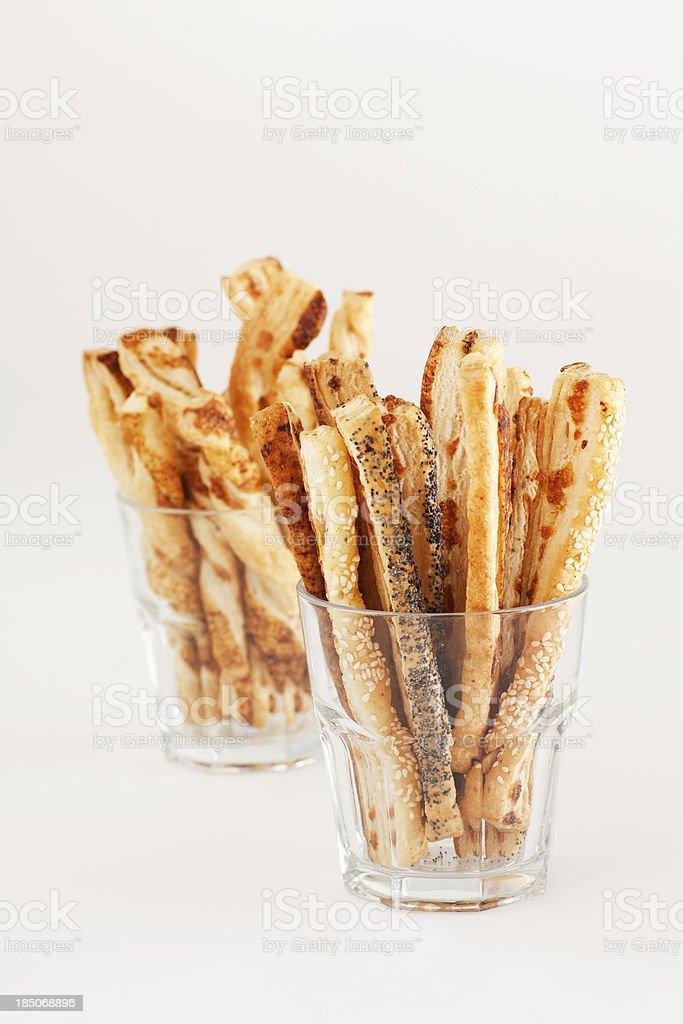 savory cheese straws stock photo