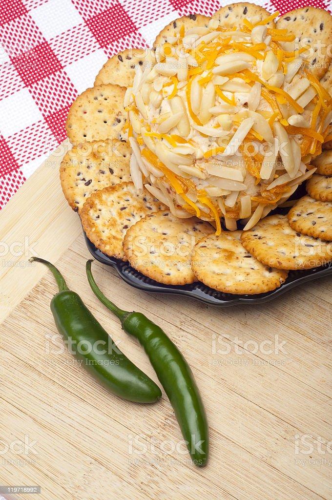 Savory Cheeseball Appetizer stock photo