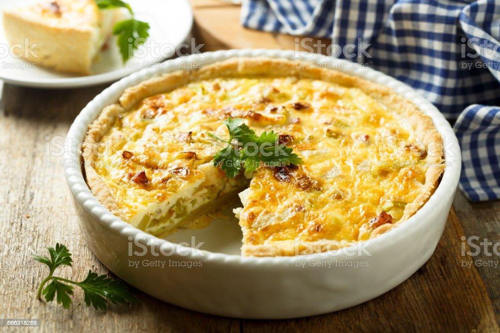 Savory pie stock photo