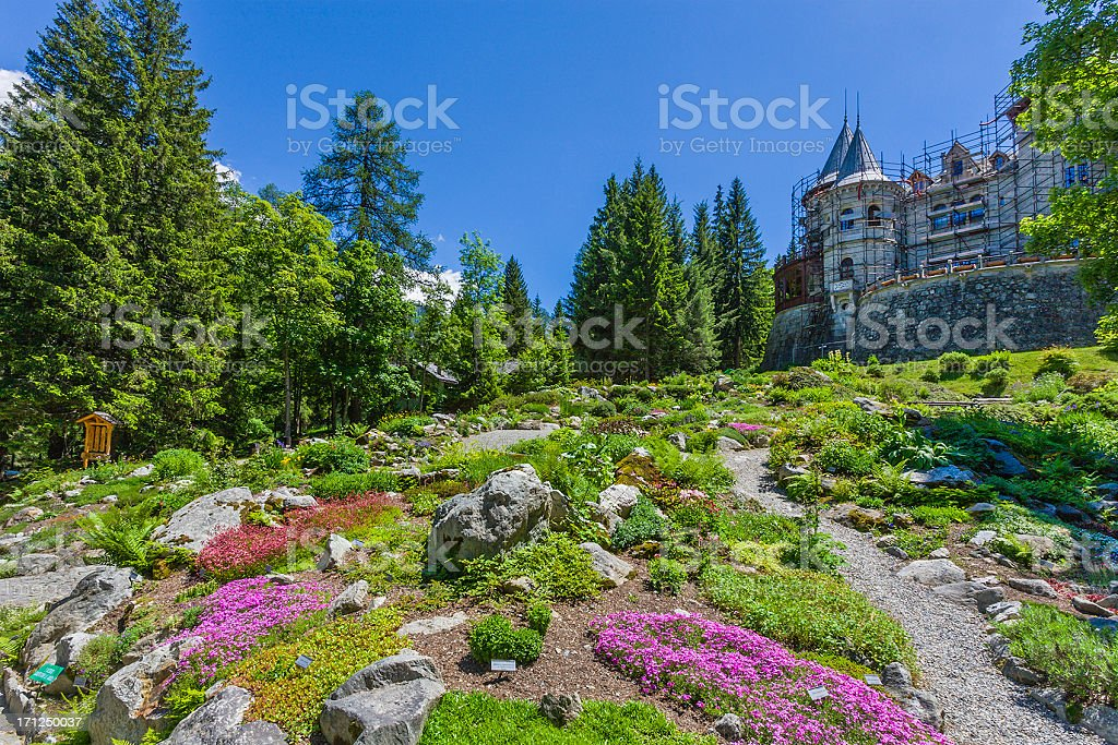 Savoy Castle, Aosta Valley stock photo