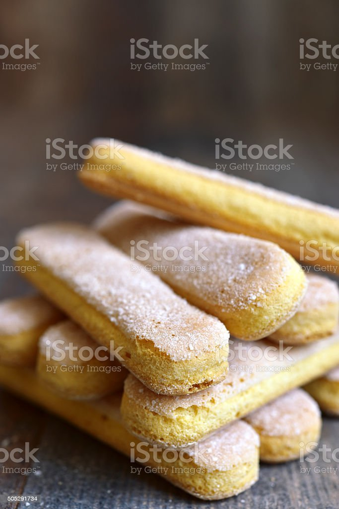 Savoyardy - biscuit for making tiramisu. stock photo