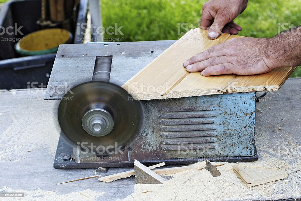 Saw Accident royalty-free stock photo
