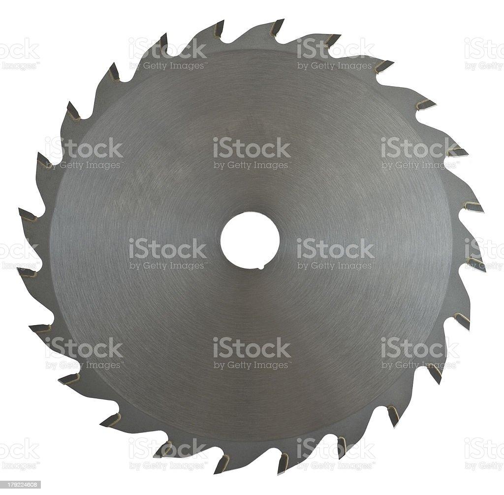 saw blade on white background stock photo