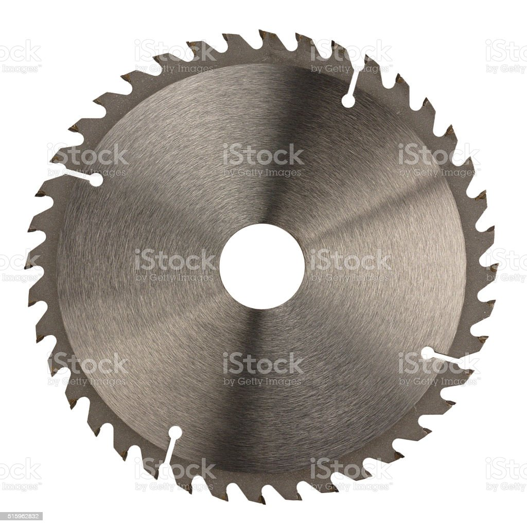 Saw disk stock photo