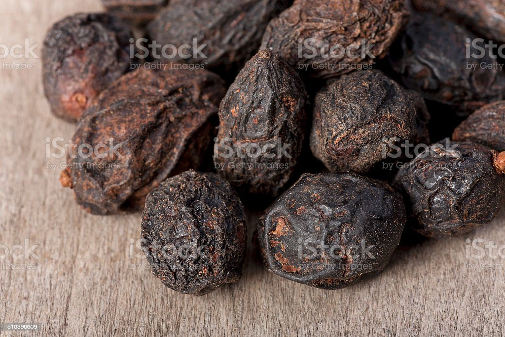 saw palmetto seeds stock photo