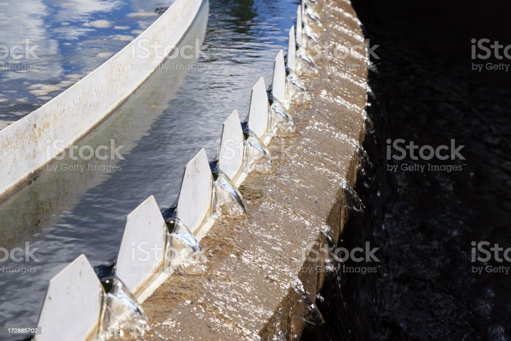 Saw Tooth Weir at water treatment plant royalty-free stock photo
