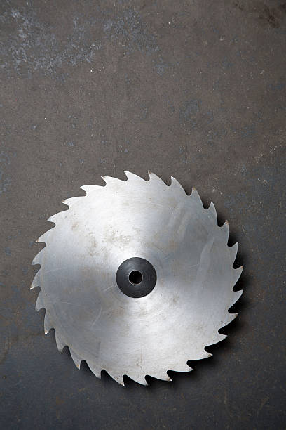 Sawblade stock photo