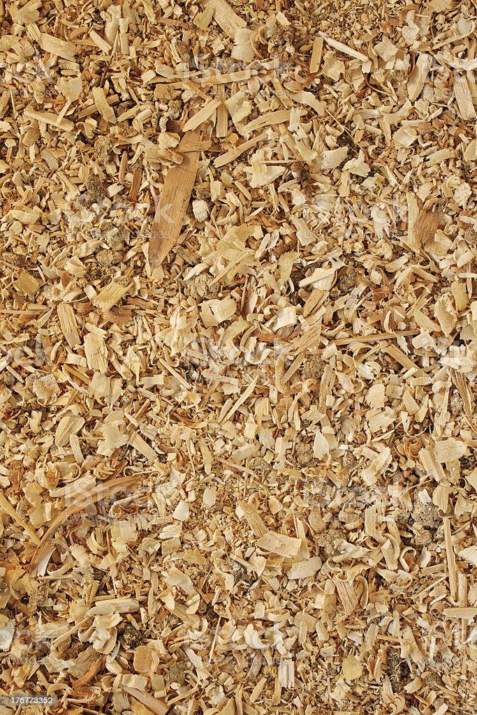 Sawdust animal bedding (Texture) royalty-free stock photo