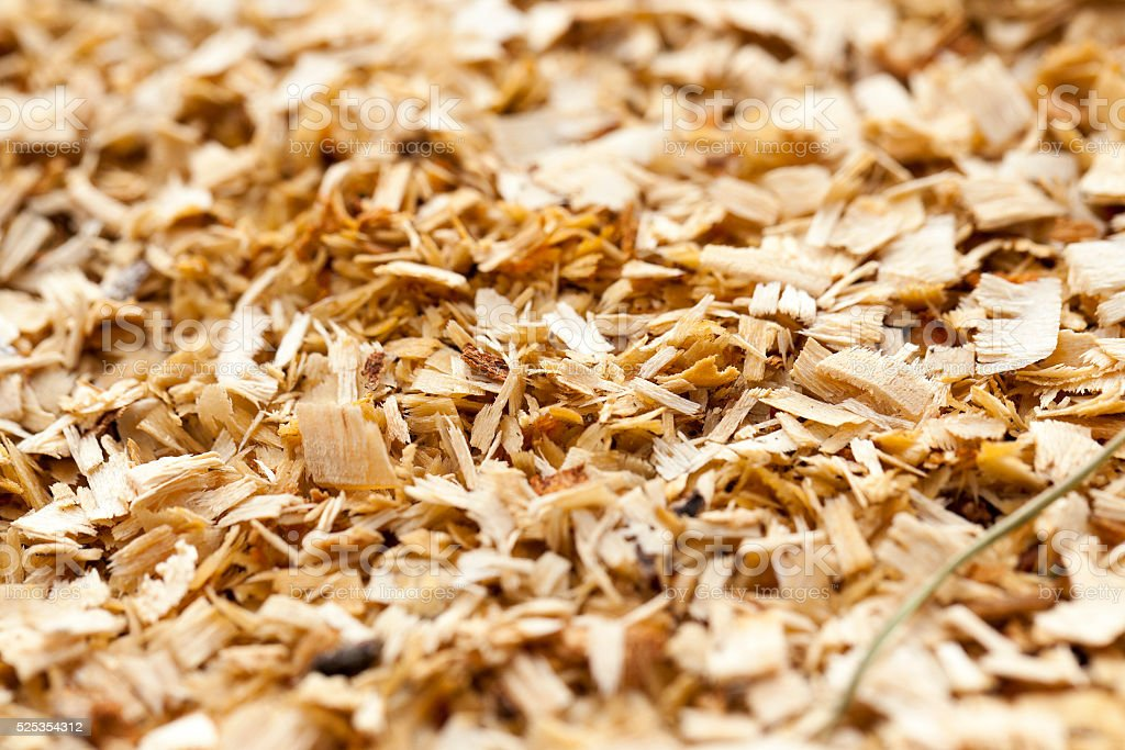 sawdust close up stock photo