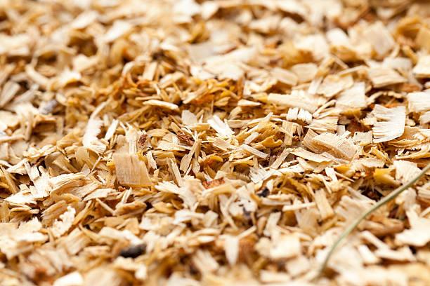 sawdust close up stock photo