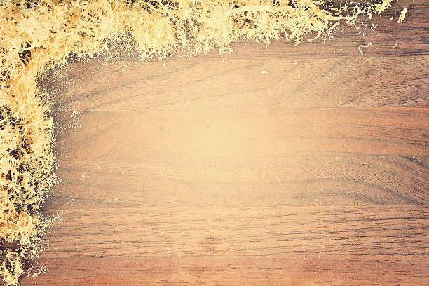 sawdust framed stock photo