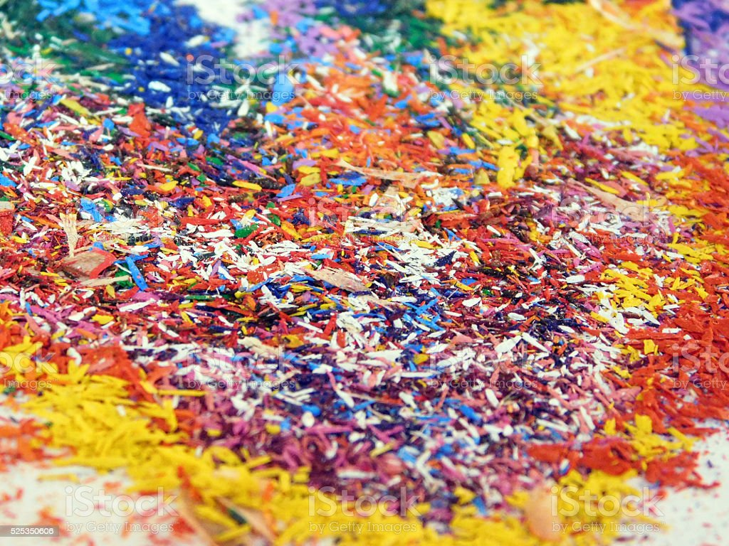 Sawdust Of Colored Pencils Texture Stock Photo - Download ...