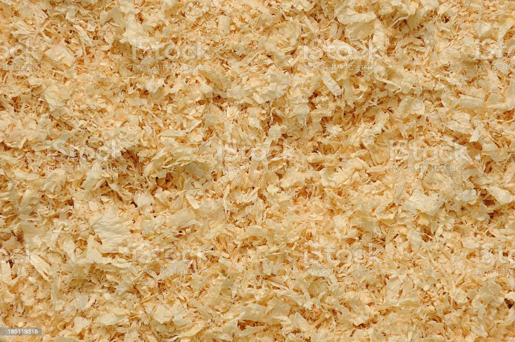 Sawdust scattered royalty-free stock photo