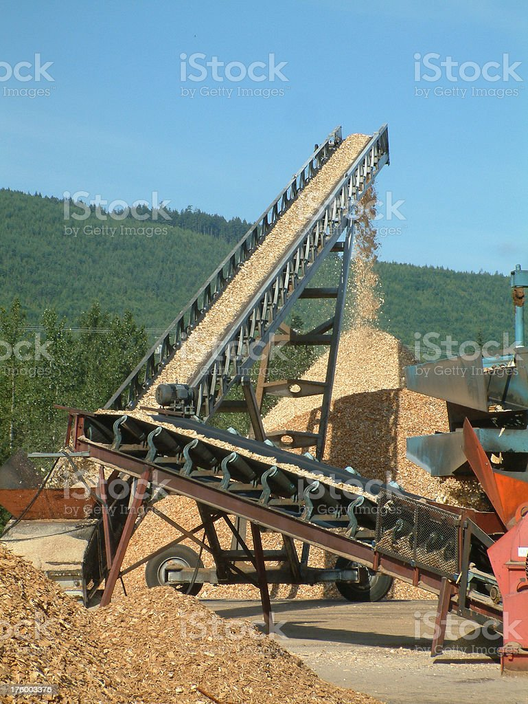 Sawdust transporter stock photo