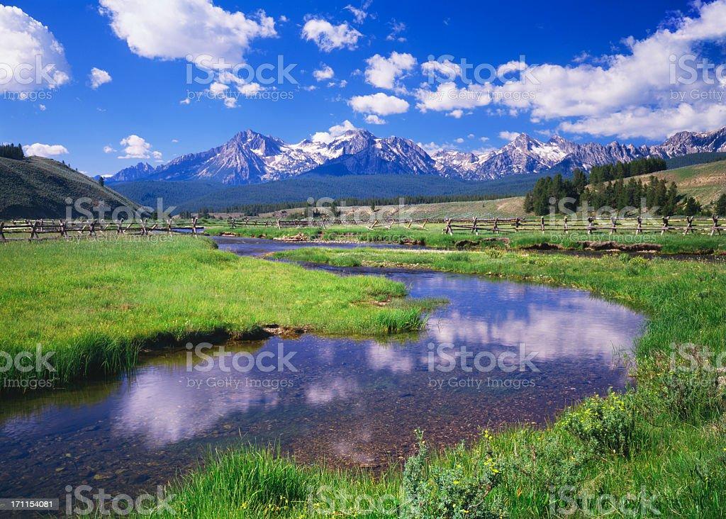 Sawtooth Mountain Range, Idaho stock photo