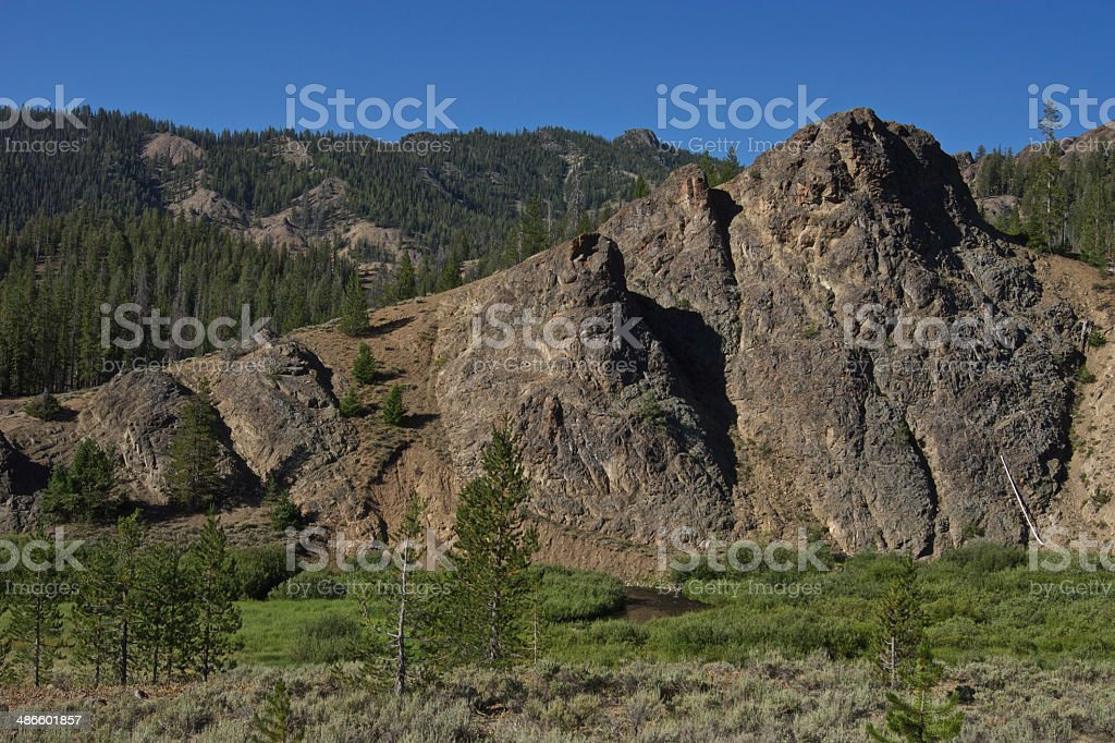Sawtooth National Forest stock photo