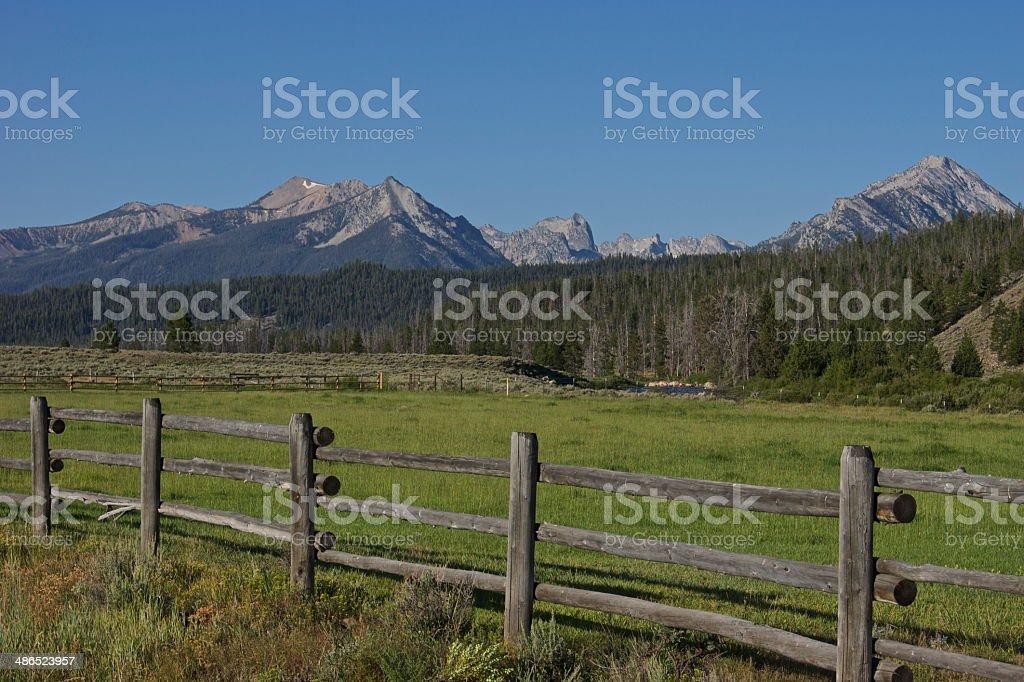 Sawtooth Range Majestic stock photo