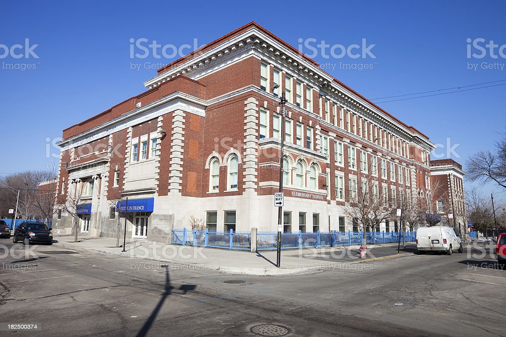 Sawyer Elementary School in Gage Park, Chicago royalty-free stock photo