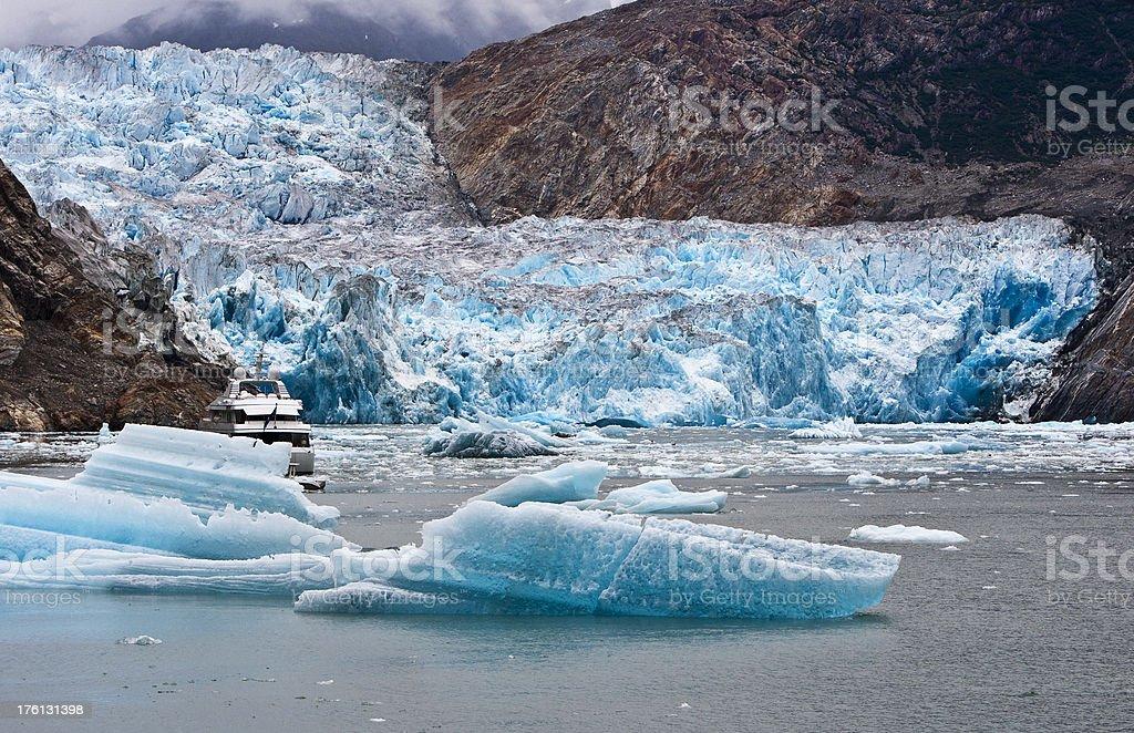 Sawyer Glacier located in Tracy Arm south of Juneau Alaska stock photo