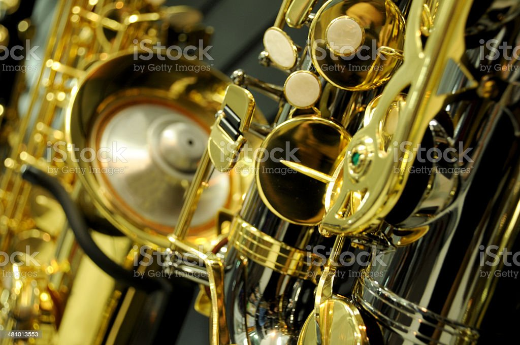 sax detail stock photo