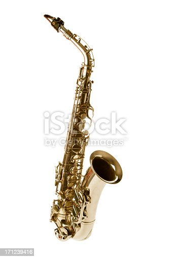 sax isolated on white