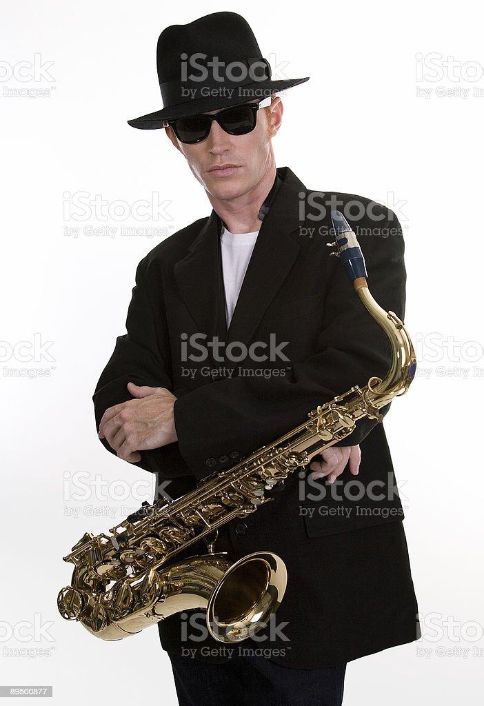 Sax giocatore 1 foto stock royalty-free