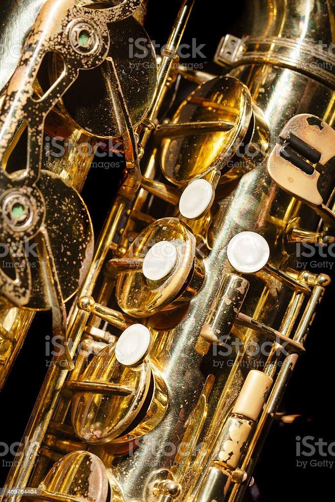 Saxaphone Detail stock photo