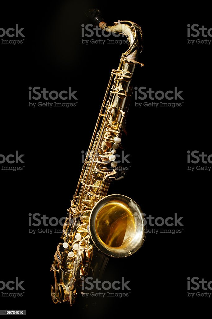 Saxaphone Detail stock photo