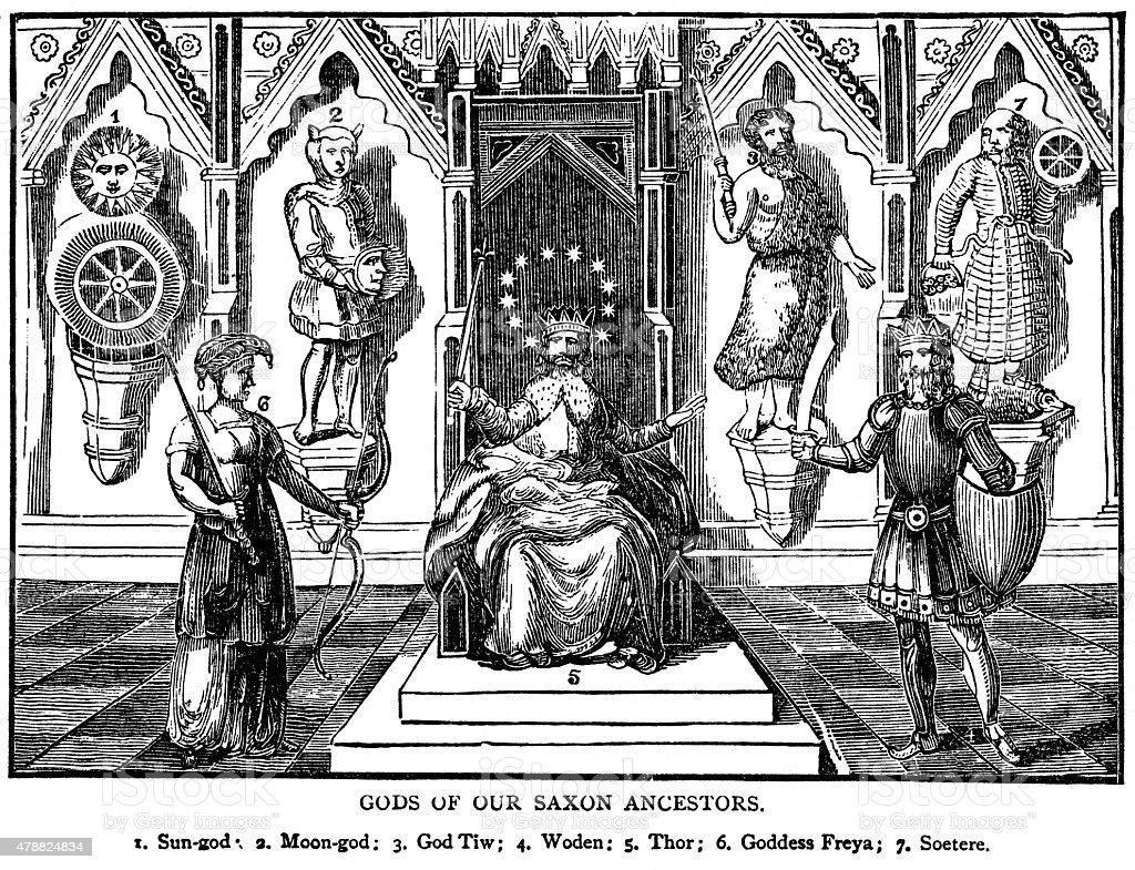 Saxon And Norse Gods stock photo