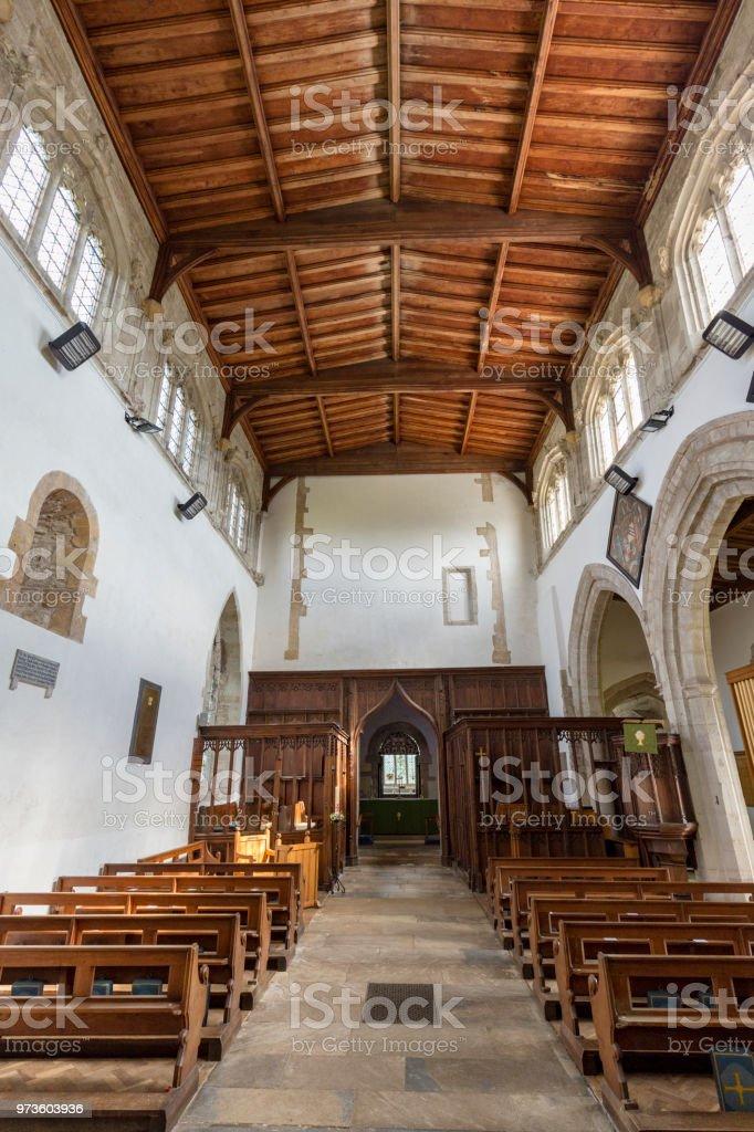 Saxon Sanctuary Interior stock photo