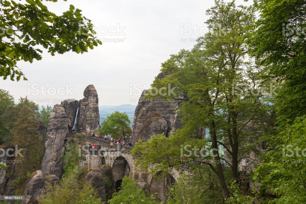 ザクセン スイス国立公園。ドイツ - ザクセン州のロイヤリティフリーストックフォト