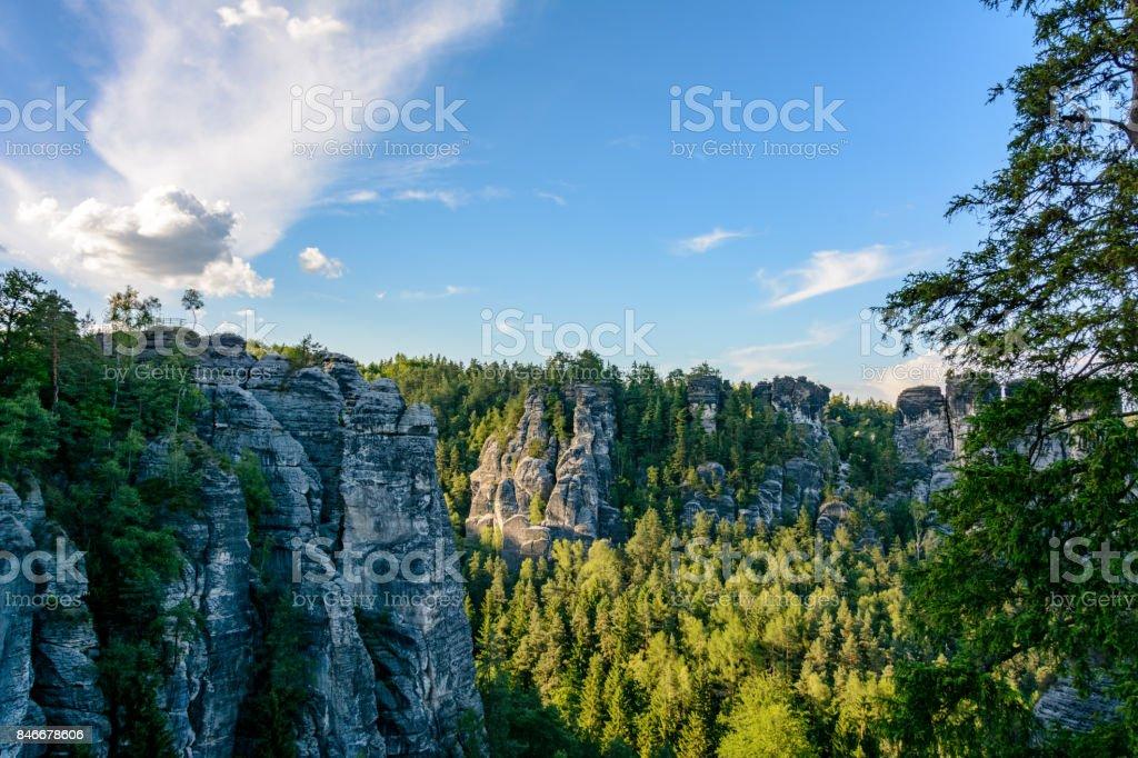 Saxon Switzerland national park, Saxony, Germany stock photo