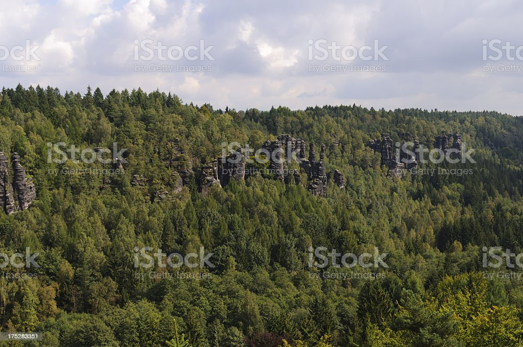 Saxony Switzerland, Biela vally royalty-free stock photo