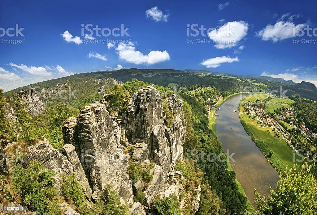 Saxony Switzerland in Germany stock photo