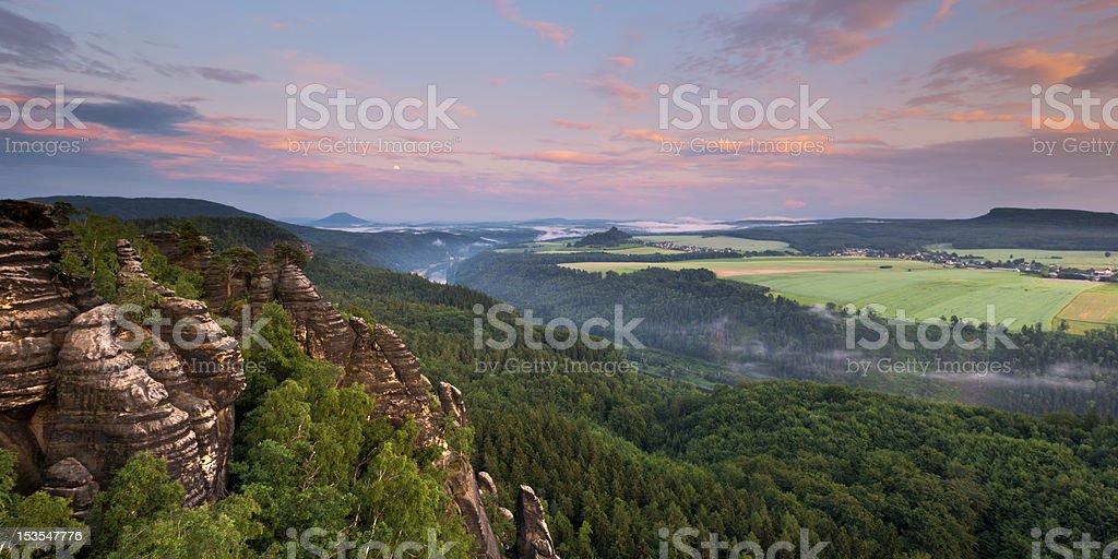 Saxony Swizerland Elbe Valley II stock photo