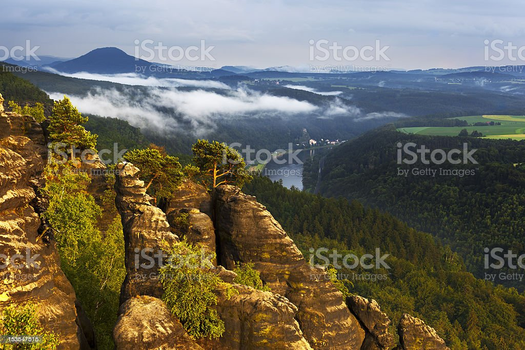 Saxony Swizerland Elbe Valley stock photo