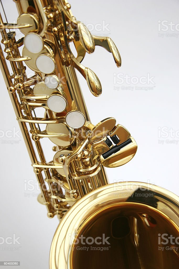 Saxophone 1 stock photo
