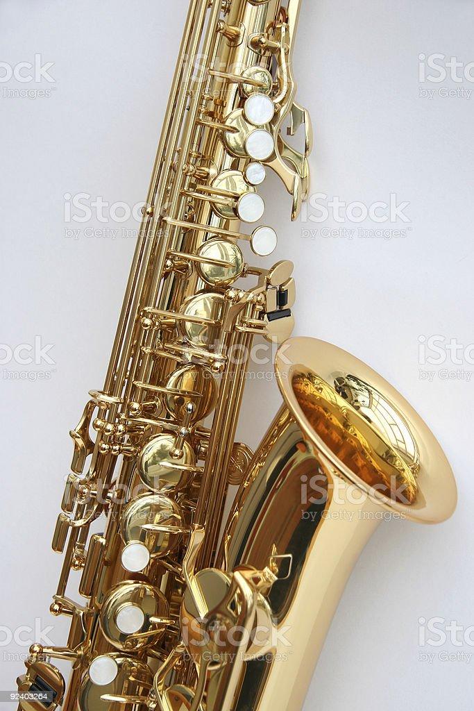 Saxophone 4 royalty-free stock photo