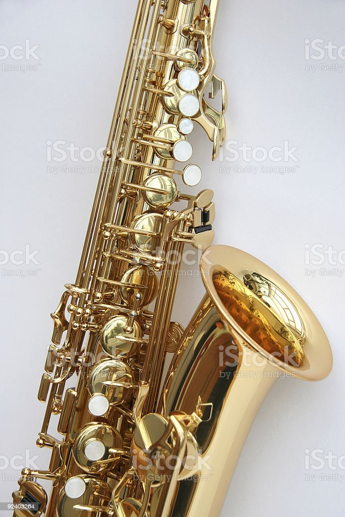 Saxophone 4 stock photo