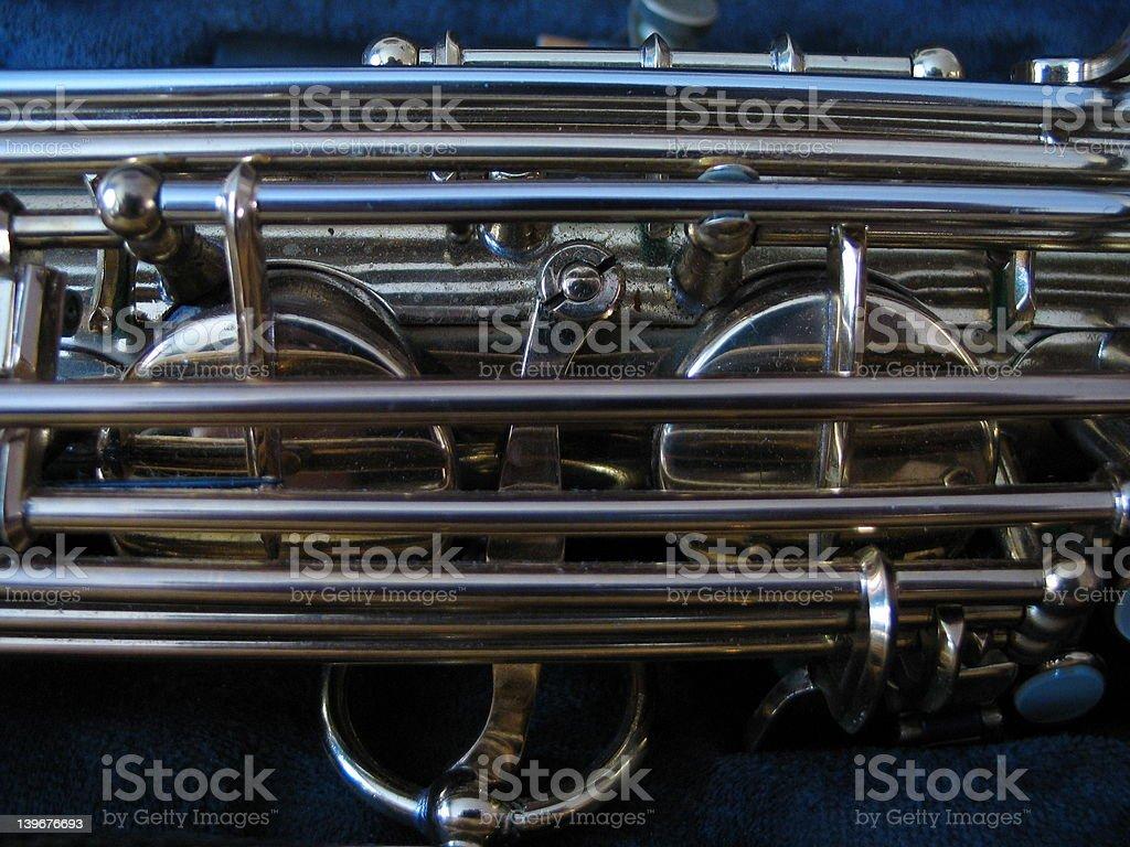 Saxophone closeup royalty-free stock photo