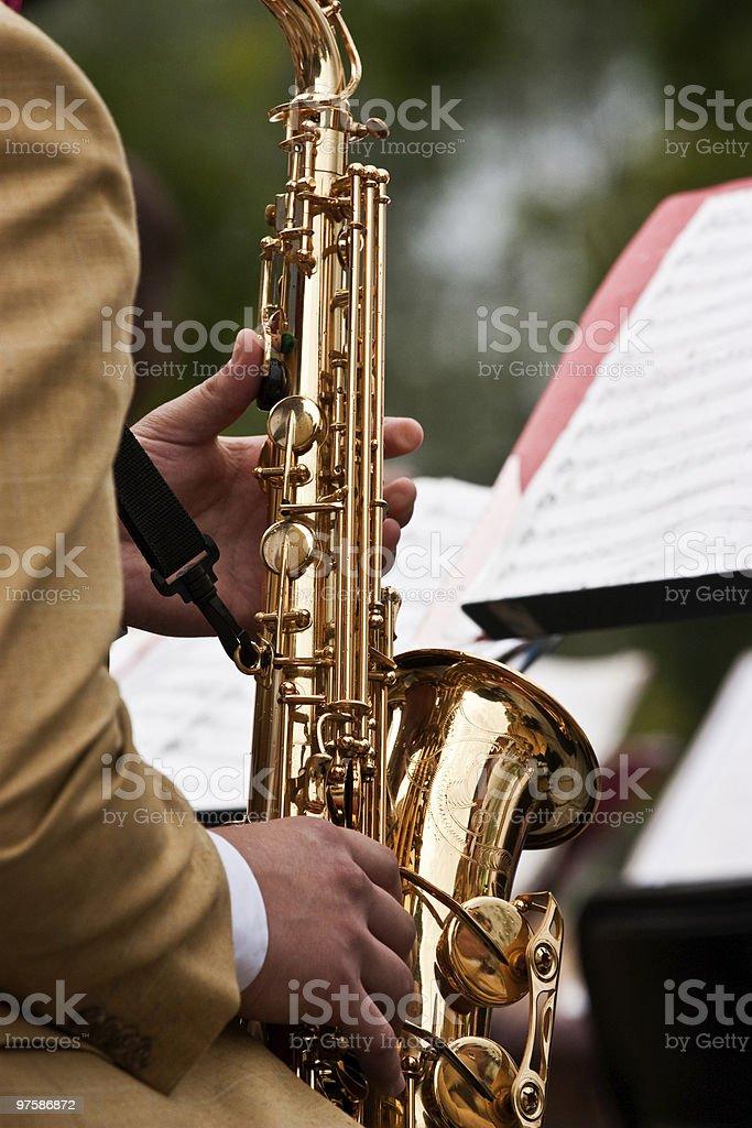 Concert de Saxophone photo libre de droits